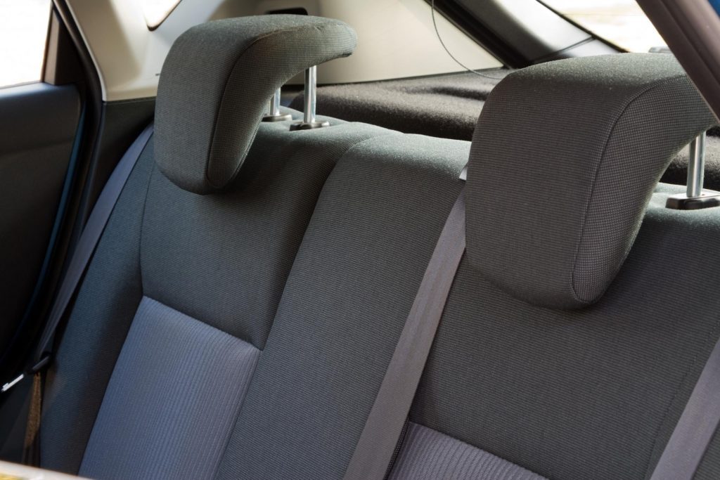 a back chair of the car